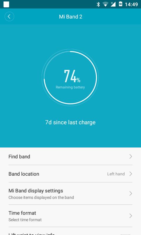 Xiaomi apyrankės informacija