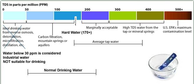 TDS matavimo skalė